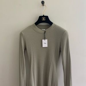 NWT aritzia TNA sweater thermal dress gray